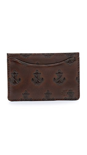 Jack Spade Embossed Anchor Credit Card Holder Cell Phone Wallet Chocolate One Size