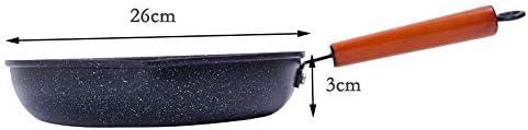 Art Jian Fonte Anti-adhésive poêle poêle Cuisson à revêtement, Easy Clean Extra Fort et Durable Surface Anti-Rayures, Cooker Utiliser Universal Barbecue en Plein air, 26cm