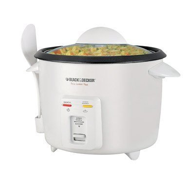 BLACK+DECKER RC436 7-Cup Dry/16-cup Cooked Rice Cooker, White