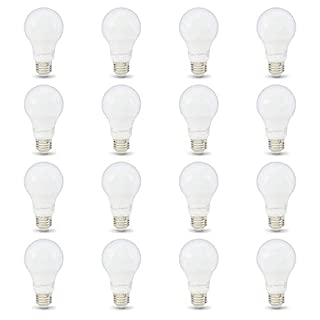 AmazonBasics 40W Equivalent, Soft White, Non-Dimmable, 10,000 Hour Lifetime, A19 LED Light Bulb | 16-Pack