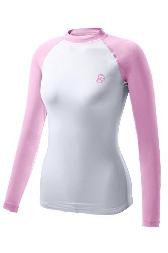 REGNA X ADOONGA Women's Rashguard UV Sun Protection UPF 50+ Pink Swim Tee