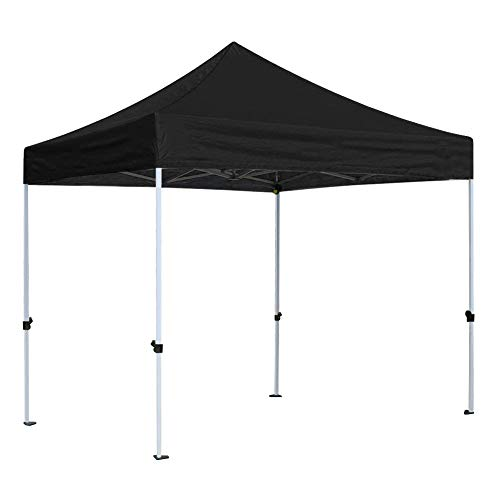 CRINEX Black 10×10 Canopy Tent, Black Ez Pop Up Canopy Tent Commercial Instant Shelter with Carry Bag, Ideal for Outdoor Party BBQ and Sports Commercial Activity