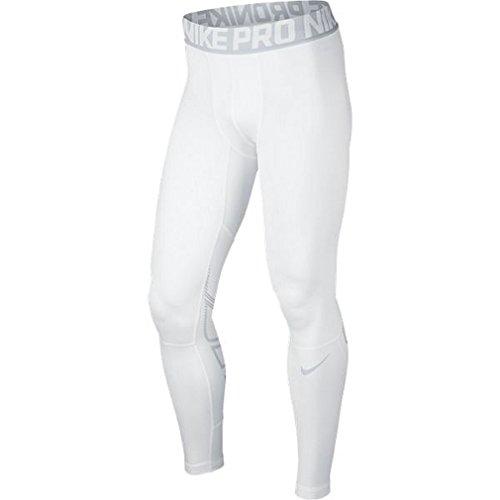 Nike Mens Pro Hyperwarm Compression Training Tights Medium White/Lt Grey