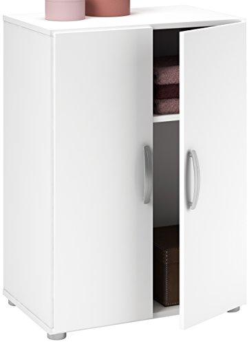 Demeyere 305545Cobi Multifunktions-Schrank, 2Türen/1Ablage, Spanplatte, Weiß 58,2x 34,6x 81cm