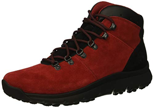 Timberland Men's World Hiker Mid Ankle Boot, red Suede, 9 Medium US