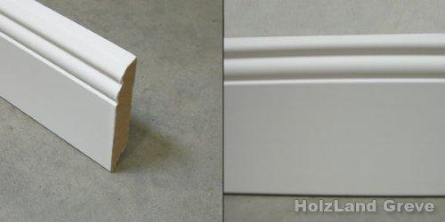 Frisch Fussleiste mit Hamburger Profil MDF weiß endbehandelt 19 x 96 mm  VF82