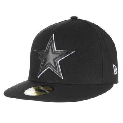 Dallas Cowboys New Era Leather Pop Fitted 59Ffity Cap Dallas Cowboys Embroidered Leather