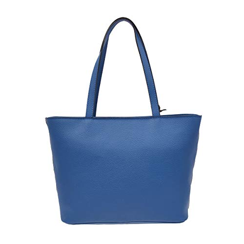 Color Piel Peleteria En Hombro Italia Echa Para De Azul Bolso 1Rzwdqq