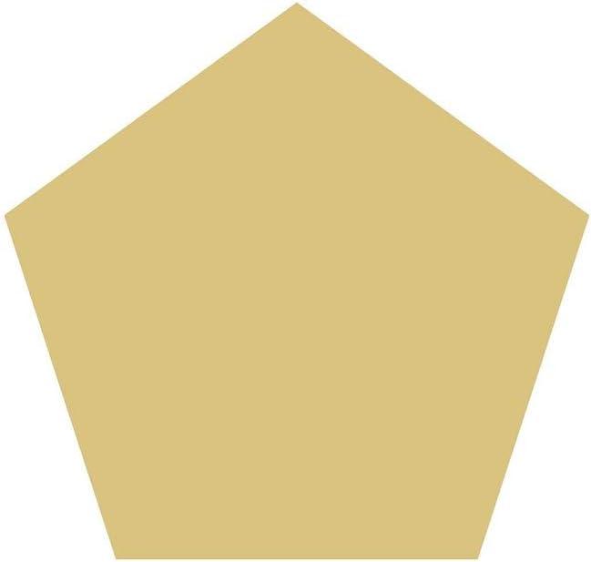 """Pentagon Cutout Unfinished Wood Basic Geometric Washington DC Home Decor MDF Shape Canvas Style 1 (12"""")"""