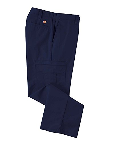 """Dickies Occupational Workwear 2112372nv 42x32 Polyestercotton Relaxed Fit Men's Premium Industrial Cargo Pant With Straight Leg, 42"""" Waist Size, 32"""" Inseam, Navy Blue"""