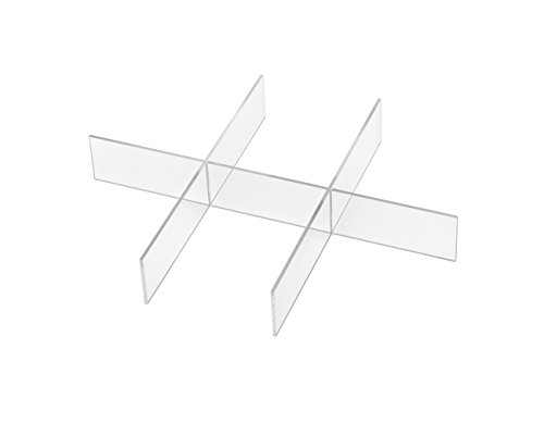 Whitmor Acrylic 6 Section Divider