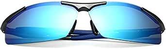 نظارات شمسية رياضية مستقطبة مع عدسات زرقاء للرجال والنساء لركوب الدراجات والجري والقيادة والصيد والجولف والبيسبول