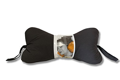 Original Bones NeckBone Pillows in Poly Cotton, Black