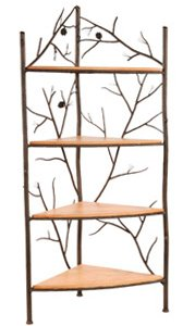 Stone County Ironworks 4 Tier Corner Bakers Rack, Distressed Pine 203157-OG-68447-O-269254, O ()