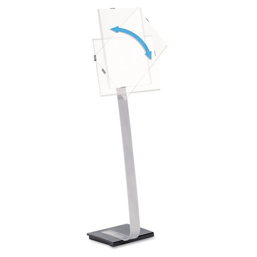 Durable - Info Sign Duo Floor Stand, Letter-Size Inserts, 15 x 44-1/2, Clear 4814-23 (DMi EA by Durable (Image #1)