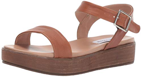 Steve Madden Women's AIDA Sandal, Cognac Leather, 8 M US