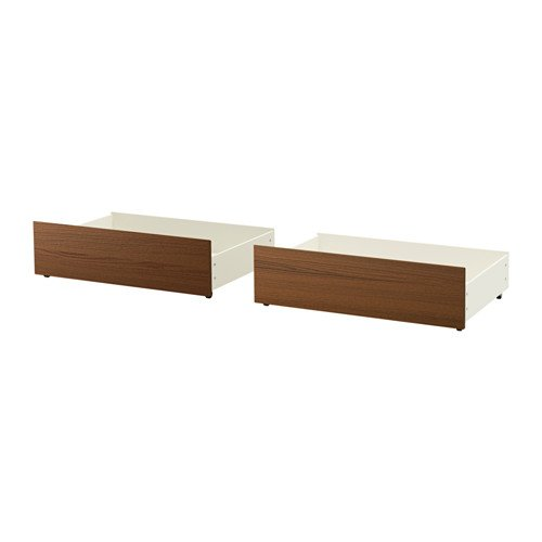 Ikea Malm Ikea Full/Double/Twin/Single Size Underbed Storage Box for High Bed Brown Stained Ash ()