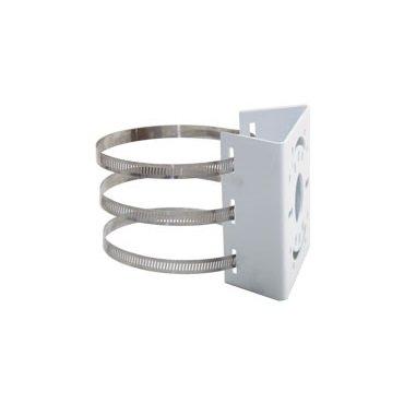 Kenuco Pole Mount Adapter Indoor Outdoor Pole Rail Installation - Aluminum Alloy - White ()