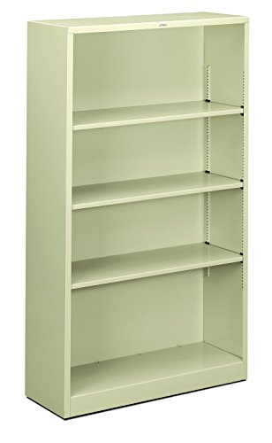 HON Brigade Metal Bookcase - Bookcase with Two Shelves, 34-1/2w x 12-5/8d x 59h, Putty (HS60ABC)