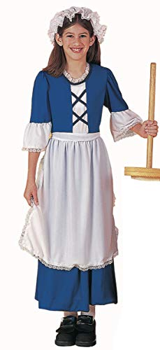 Forum Novelties 77750 Kids Colonial Girl Costume, X-Large, Multicolor, Pack of 1
