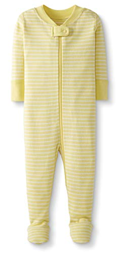Moon and Back by Hanna Andersson Baby/Toddler One-Piece Organic Cotton Footed Pajama, Yellow, 18-24 months