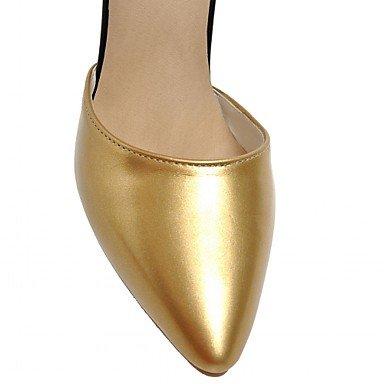 Da Tacchi Estate Uk3 Formale Matrimonio poliuretano Gold Innovativo Us5 Casual Festa Serata Autunno Sintetico Donna ggx E Comoda Cn34 Footingcomoda Lvyuan Pu Eu35 5tqwApp