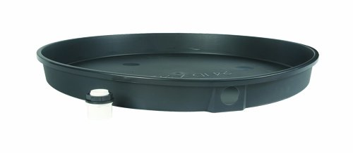 Camco  30''Inner Diameter x 2'' Plastic Drain Pan with PVC Fitting - For Use with Electric Water Heaters, Protects Your Floor From Leaks (11420)