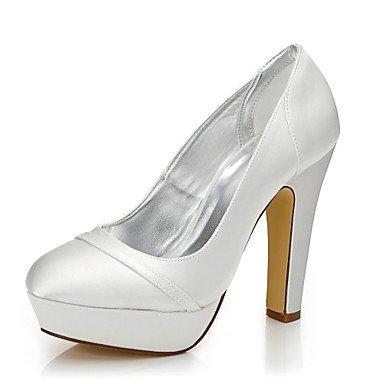 Zormey Tacones Mujer Otoño Invierno Confort Dyeable Zapatos Boda De Seda Exterior De La Oficina &Amp; Carrera Parte &Amp; Traje De Noche Chunky Talón Marfil Marfil Us8.5 / Ue39 / Uk6.5 / Cn40 Ivory|US8.5 / EU39 / UK6.5 / CN40