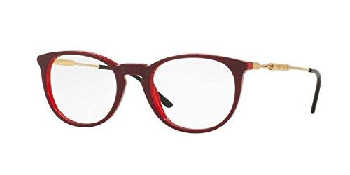 Versace VE3227 Eyeglass Frames 5188-51 - 51mm Lens Diameter Red - Frames Versace Eyeglass Red