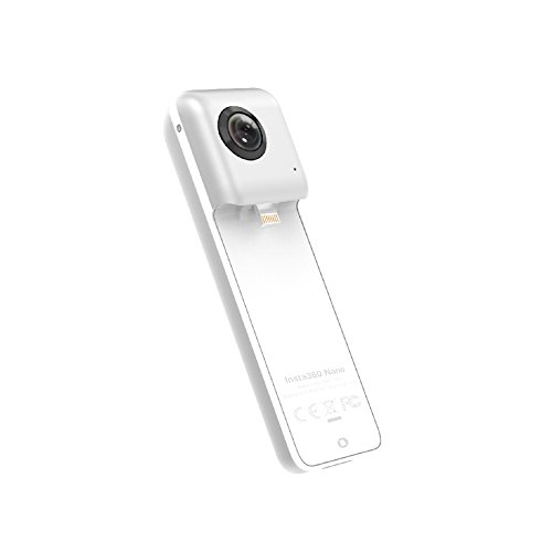 Insta360 Nano 360 Degree Dual 3K Lens VR Video Camera Real Time Seamless Stitching for iPhone/Silver/6S/6SP/6/6P - Silver