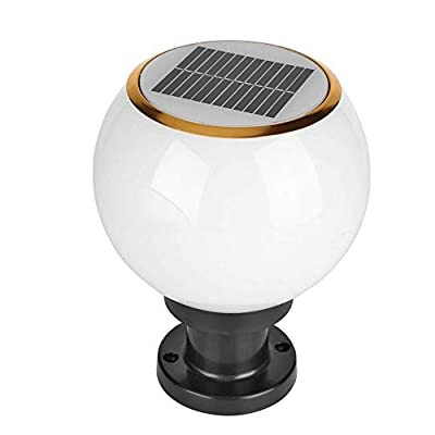 Ailtb Outdoor LED Solar Post Cap Lights Waterproof Solar Fence Lights Spherical Acrylic Column Lamp for Driveway Pathway Garden Patio Driveway Yard Fence Deck Landscape Lighting