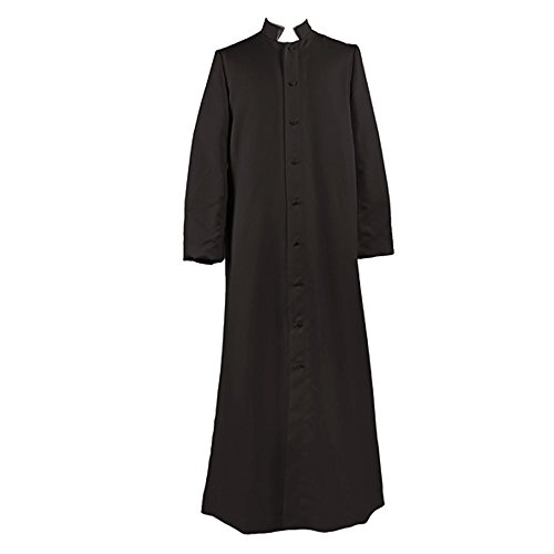 Ivyrobes Unisex Adults Black Roman Pulpit(Clergy) Cassock ((5'3''-5'5'') Chest49) by Ivyrobes