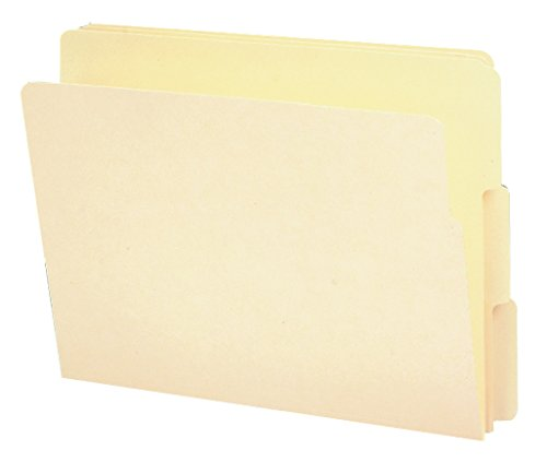 Smead End Tab File Folder, Shelf-Master Reinforced 1/3-Cut Tab, Letter Size, Manila, 100 per Box (24134) -