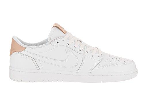 Jordan Nike Männer Air 1 Retro Low OG Prem Basketballschuh Weiß
