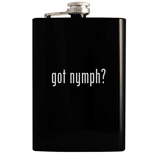 got nymph? - 8oz Hip Drinking Alcohol Flask, Black
