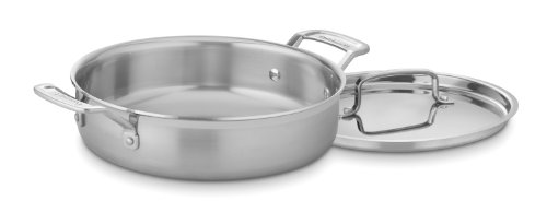 (Cuisinart MCP55-24N MultiClad Pro Stainless 3-Quart Casserole with Cover)