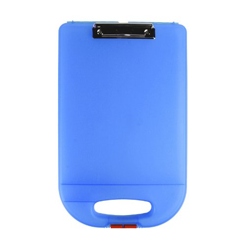 Dexas School Clipcase 2 Storage Clipboard with Rounded Handle, Blue (Clipboards Dexas)
