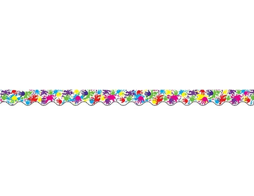 Teacher Created Resources Helping Hands Border Trim, Multi Color (4138)