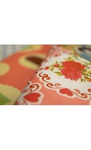 Ravedoll Borsa a mano Vintage - Borsa tipo clutch in tessuto e interno in cotone, con tracolla e chiusura magnetica.