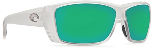 Costa Del Mar Cat Cay 400G Cat Cay, Matte Crystal Green Mirror, Green - Costa Women For Sunglasses