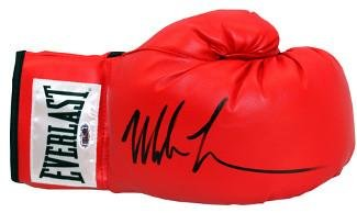 Mike Tyson signed Everlast White Label Red Right Boxing Glove (black sig) Hologram (Heavyweight Champ) Tristar Productions Certified
