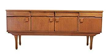 Amazon.com: Teak Mid Century Modern Credenza or Media Console, MCM on red media credenza, vintage media credenza, danish rosewood sideboard credenza, mid century modern office credenza, mid century modern entertainment credenza, mid century walnut desk and credenza,