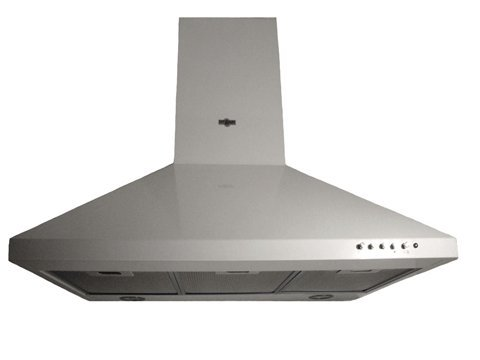 """Range Hood Wall Mounted WHT 24"""" CH-105-CS-WHT NT AIR. Made in Italy."""