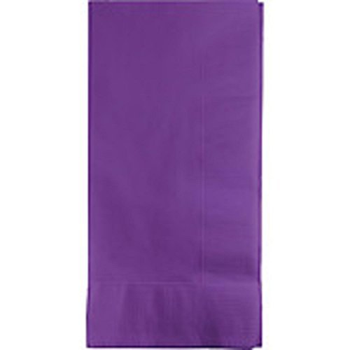 Creative Converting Touch of Color 2-Ply 50 Count Paper Dinner Napkins, Amethyst Purple