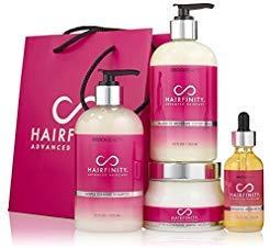 Hairfinity Ultimate Revival Kit (Gentle Cleanse Shampoo, Balanced Moisture Conditioner, Strengthening Amino Masque & Nourishing Botanical oil) - Reduce Hair Breakage