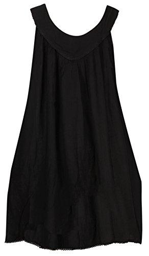 La Leela Strand weicht Badeanzug Bikini Tie-Dye-Strand Kurzes beiläufiges Kleid der Frauen Schwarz_503
