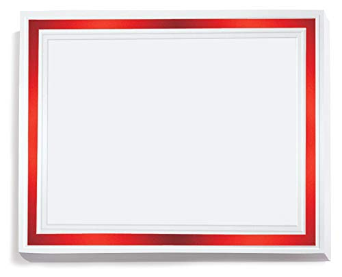 White with Red Foil Pristine Specialty Certificates, 8½ x11, Foil Accents, 50 Count ()
