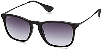 Ray-Ban Unisex RB4187 622/8G Chris Sunglasses Rubber Black