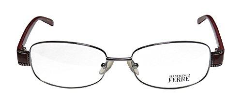 Gianfranco Ferre 18302 Womens/Ladies Designer Full-rim Eyeglasses/Eyewear (53-16-125, Silver / - Asian Fit Pads Nose