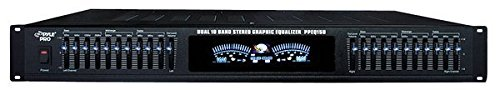 "Pyle-Pro PPEQ150 19"" Rack Mount Dual 10 Band Stereo Graphic Equalizer"